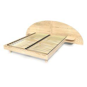 STRUCTURE DE LIT Lit adulte ARC bois avec tête et chevets intégrés
