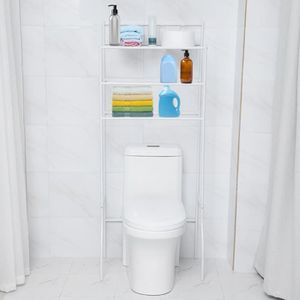 COLONNE - ARMOIRE SDB Support rangement toilettes au-dessus étagères toi
