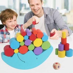JEU D'APPRENTISSAGE bois lune jeu d'équilibre enfants jouets éducatifs
