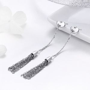 Bamoer S925 Argent Sterling Boucles D/'oreilles Clou Doucement Love /& CZ Pour femmes Bijoux