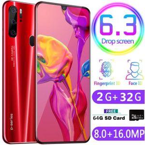 SMARTPHONE Rouge- P35 Pro 6,3 pouces haute définition Reconna