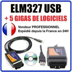 Interface Diagnostique ELM327 1.5 PRO USB en Français VCDS MULTIMARQUES