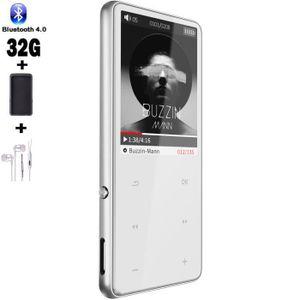 LECTEUR MP3 SOTEFE® -Argenté 32Go Lecteur MP3 Bluetooth 2.5D M