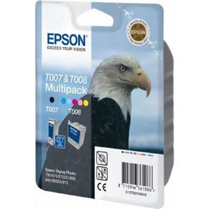 CARTOUCHE IMPRIMANTE Epson T007 + T008 Multipack Set