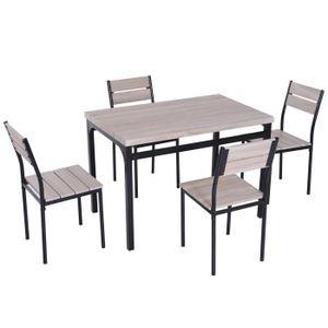 TABLE DE CUISINE  Table de salle à manger avec 4 chaises style indus