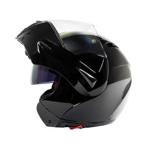 CASQUE MOTO SCOOTER Casque Modulable Noir Brillant
