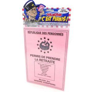 DIPLÔME HUMORISTIQUE - PERMIS HUMORISTIQUE Carte spéciale