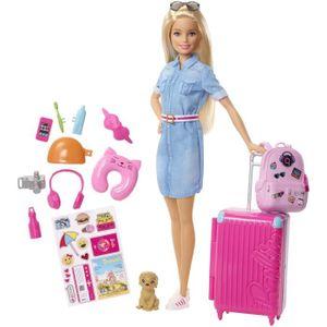 POUPÉE BARBIE Barbie Voyage - Coffret Poupée mannequin -