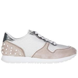 Chaussures baskets sneakers femme en daim sportivo Tod's