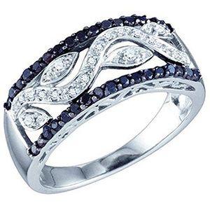 BAGUE - ANNEAU Bague Femme Diamants 0.42 ct  10 ct 471-1000 Or Bl