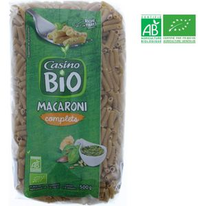 PÂTES ALIMENTAIRES Macaroni complet bio - 500 g