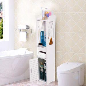 COLONNE - ARMOIRE SDB Armoire de salle de bains bois Étagère de bain Pla