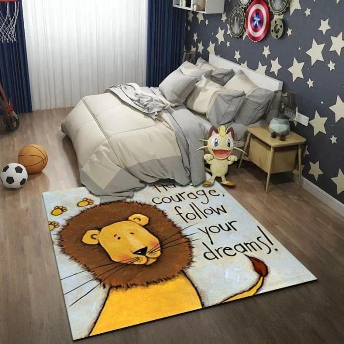 Tapis de Sol 120 * 160cm Lion Pour Enfants Tapis de Salle de Jeux Chambre D'enfants Tapis de Jeu de SCB97