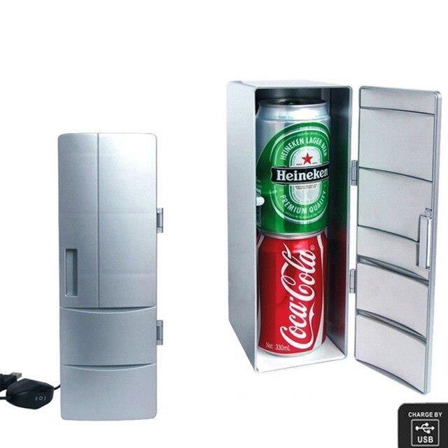 Mini réfrigérateur Portable, refroidisseur-réchauffeur, réfrigérateur, canettes de boisson, USB, refroidisseur d'ali*PD1616