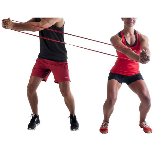 PURE2IMPROVE Bande de résistance Pro - Fitness - Rouge