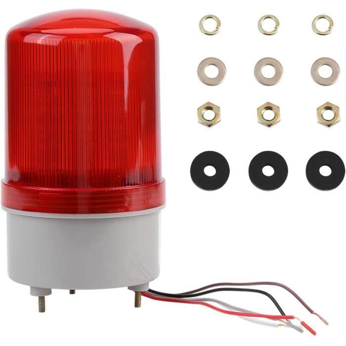 Voyant d'avertissement, ampoule d'avertissement d'urgence à LED rouge lampe de bal rotative AC220V pour remorque de camion de A285