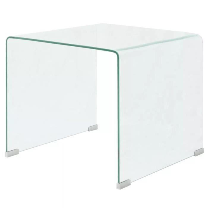 Table basse Verre trempé Transparent