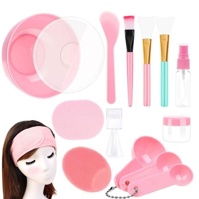 Masque du visage Bol de mélange avec 15pcs beauté beauté crème spatule Spatule Stick brosse Beauty DIY Outils