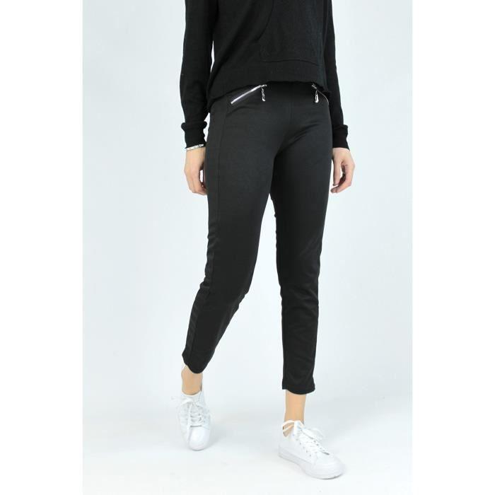 Jogging poches zippées Femme Noir