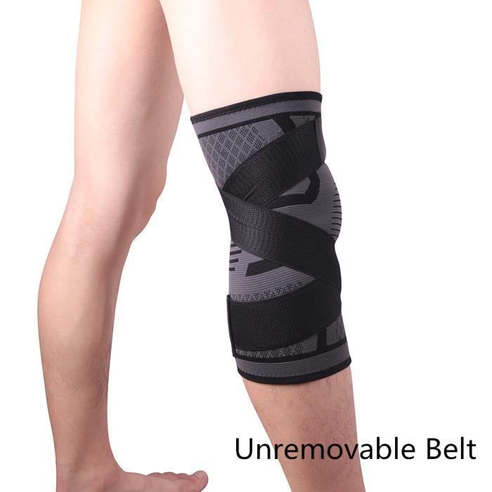 PROTEGE-CHEVILLES - CHEVILLERE,1 pièces genou soutien professionnel protection sport genouillère - Type Black-Unremovable-S