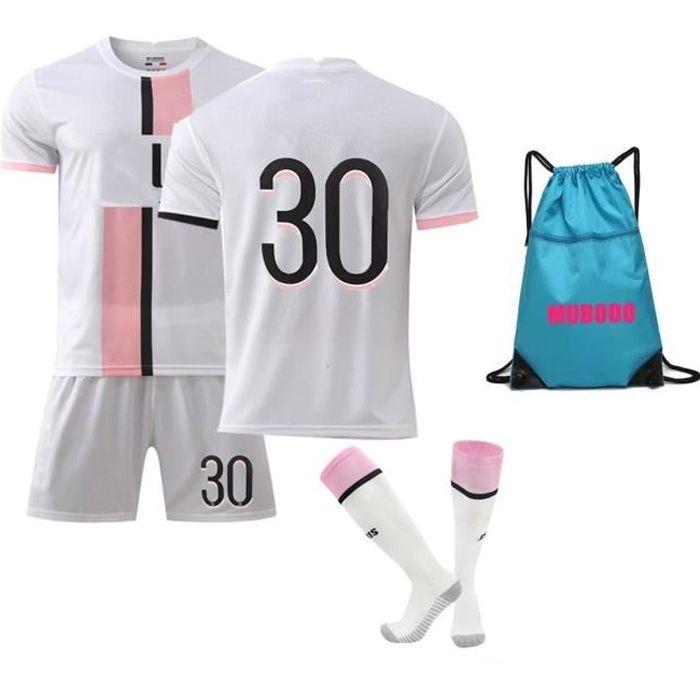 21-22 saison Maillots de Football T-Shirt avec Chaussettes et Accessoires Chemise de Football Ensemble pour adulte Enfants - Blanc