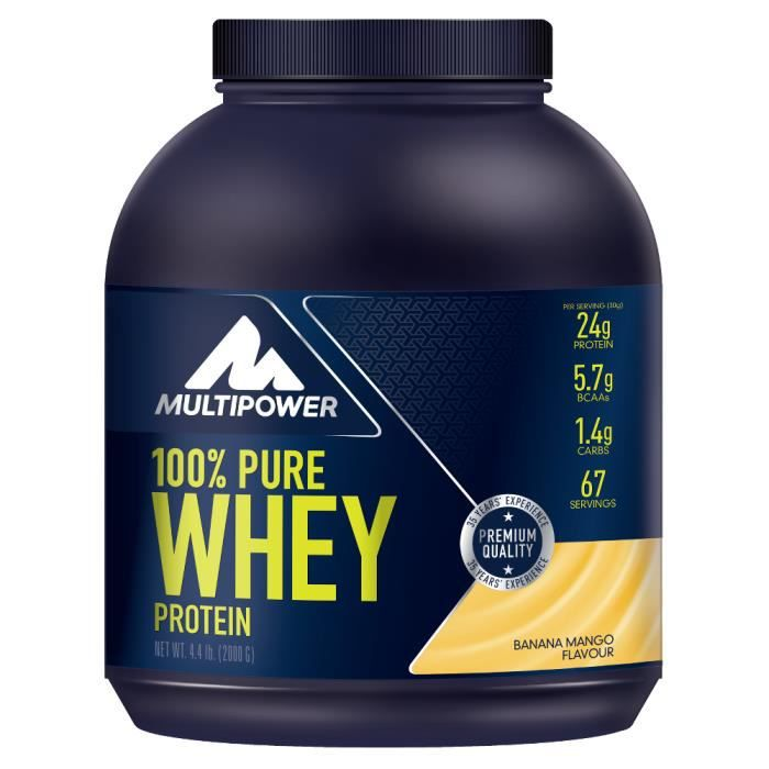 MULTIPOWER - 100% Pure Whey Protein 2000 g - Biscuits et crème