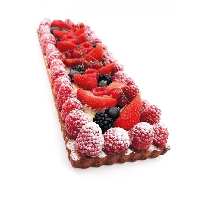 Moule à tarte perforé fond amovible 35 x 11 cm