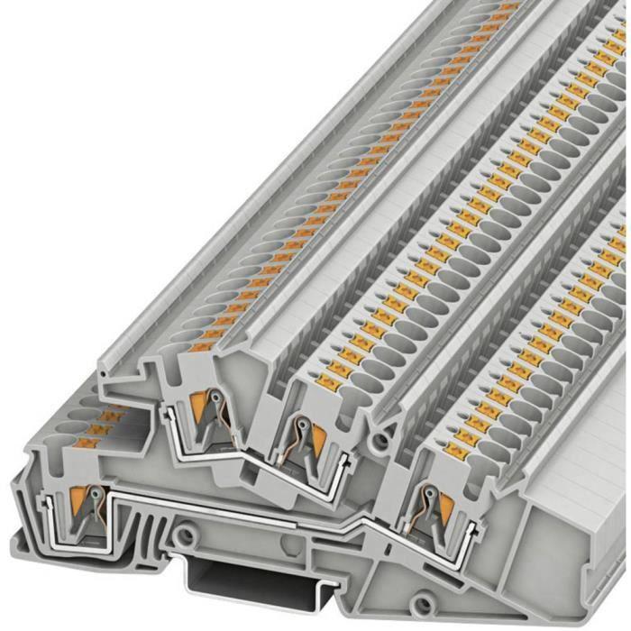 Bloc de jonction traversant à 3 étages Phoenix Contact PTI 4-L-L 3214052 Nombre total de pôles: 4 0.2 mm² 6 mm² gris 50 pc(s)