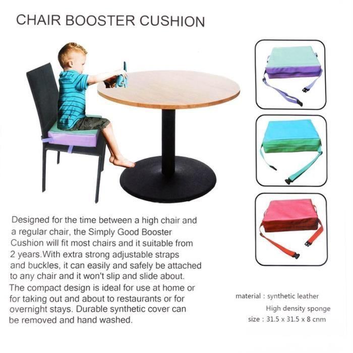 Enfants Chaise à manger pour enfants Coussin d'appoint Sièges bébé (Rouge)