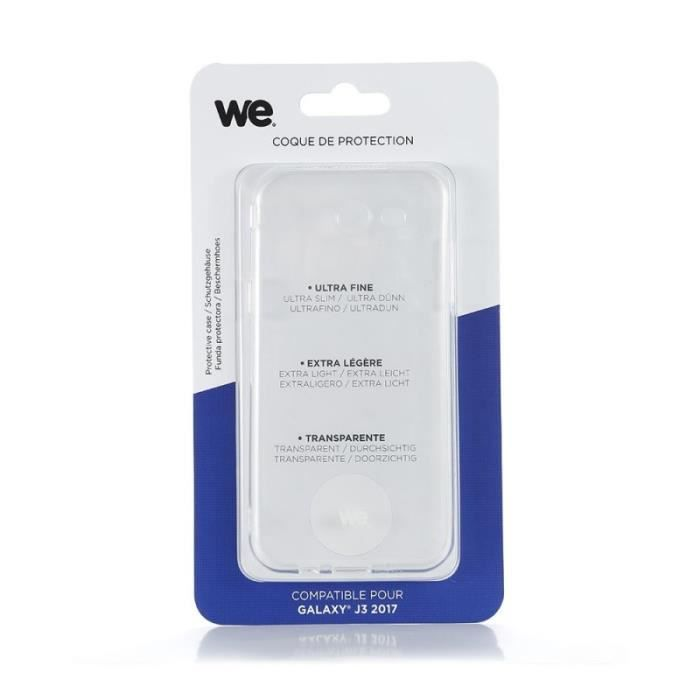 WE Coque de protection pour Samsung Galaxy J3 en TPU semi rigide