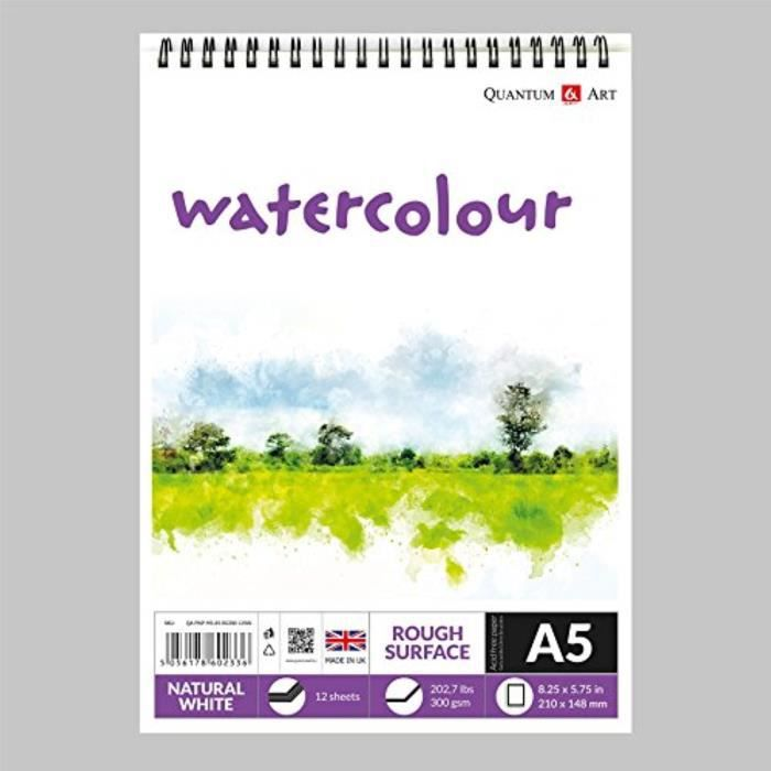 A4 Dessin Bleedproof fine Surface Pad Artiste Papier sur Spirale Livre 75gsm