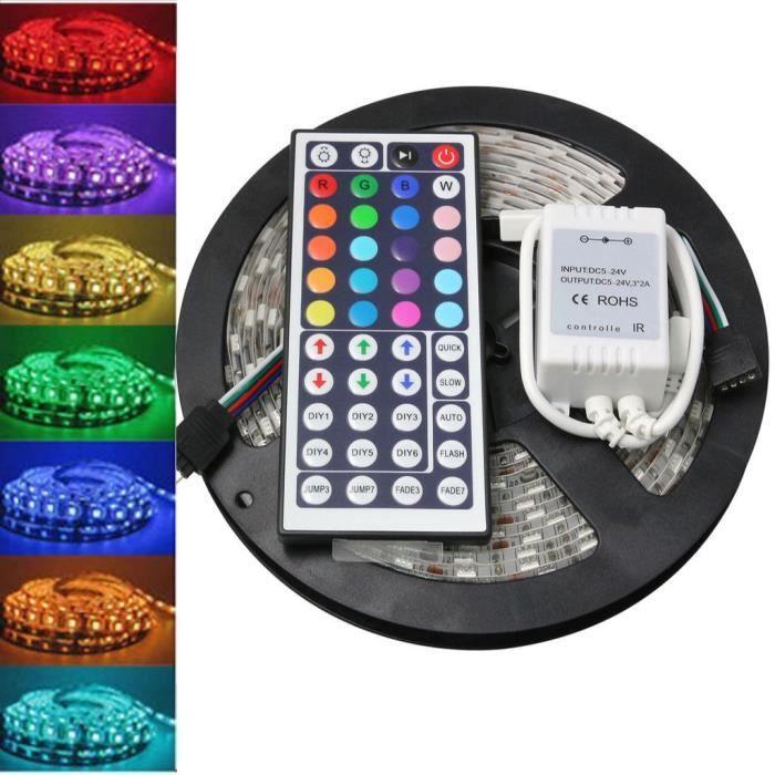 BANDE - RUBAN LED 5 m 5050 RGB SMD LED étanche bande flexible 300 LE