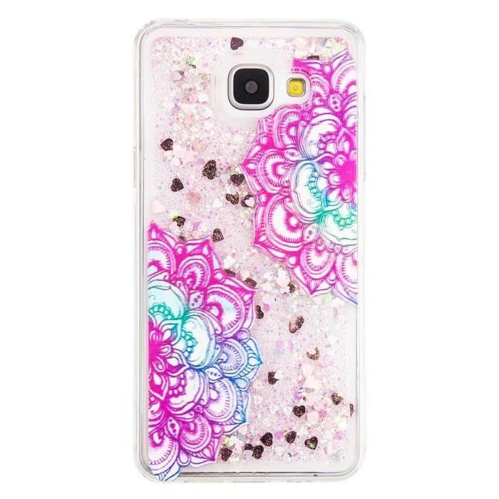 coque iphone 4s paillettes d couleur rose bleu vio
