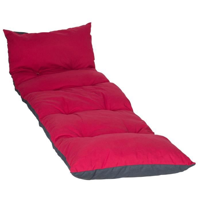 coussin floconn pour bain de soleil ardoise et cerise. Black Bedroom Furniture Sets. Home Design Ideas