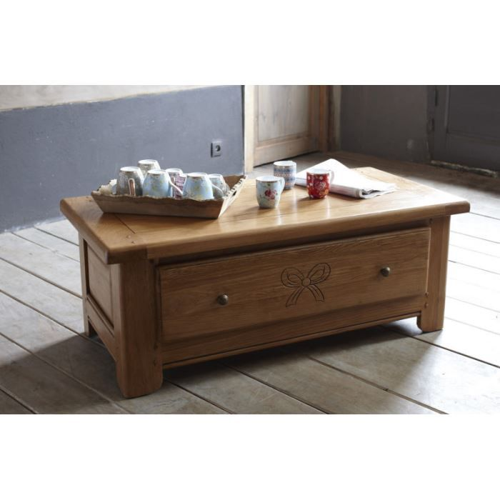 Table basse ch ne massif 39 am lie 39 achat vente table for Table chene massif