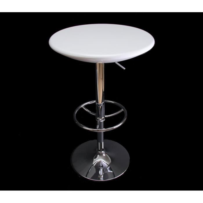 cette table de bar ronde est r glable en hauteur gr ce. Black Bedroom Furniture Sets. Home Design Ideas