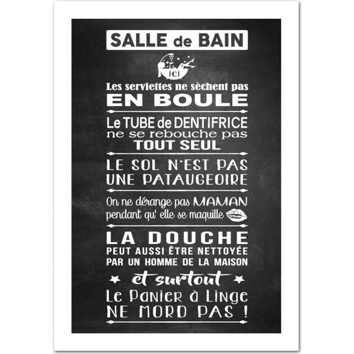Poster Les Règles De La Salle De Bains Version Ardoise Dimensions 13 X 18 Cm Papier Brillant Achat Vente Affiche Poster Soldes Sur Cdiscount Dès Le 20 Janvier Cdiscount