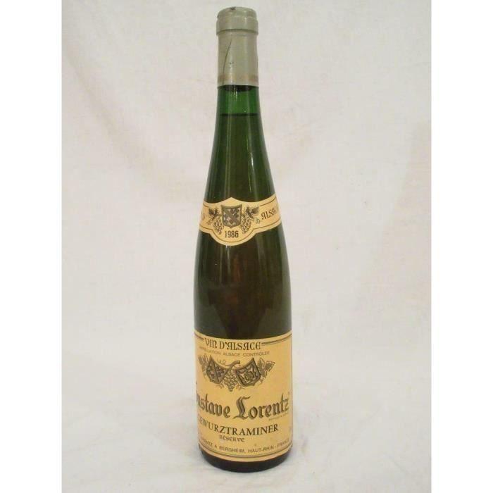 VIN BLANC gewurztraminer lorentz réserve blanc 1986 - alsace