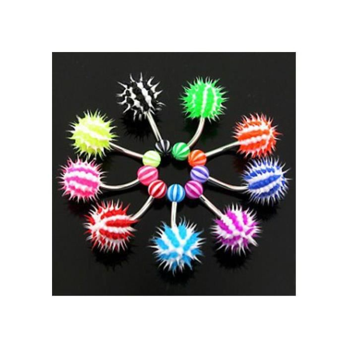 Piercing Nombril Virus silicone triple pendent