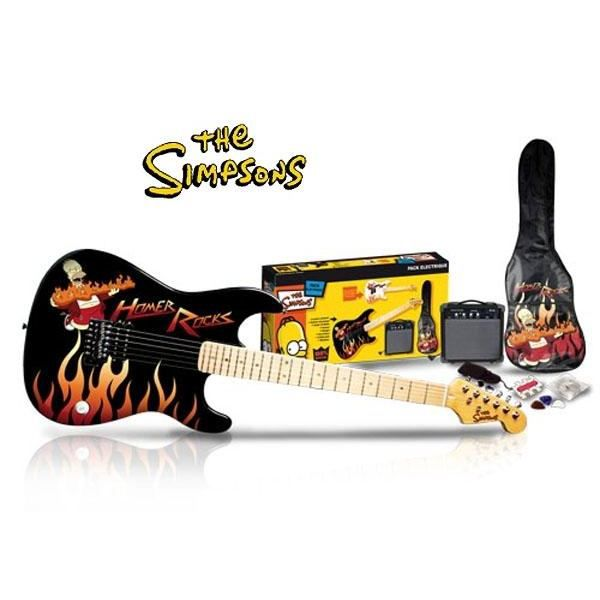 pack guitare electrique the simpson 39 s pas cher achat. Black Bedroom Furniture Sets. Home Design Ideas