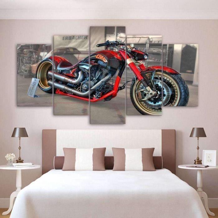 TABLEAU - TOILE Tableaux en canvas imprimé Moto custom120091880325