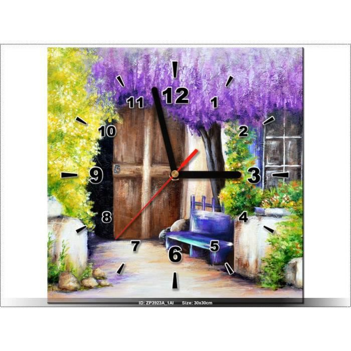 30x30cm salon rustique horloge murale tableau deco moderne new design achat vente for Horloge murale moderne salon