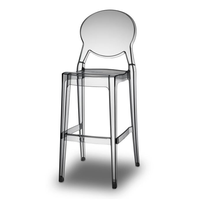 tabouret de bar transparent gris design igloo achat vente tabouret de bar aluminium. Black Bedroom Furniture Sets. Home Design Ideas
