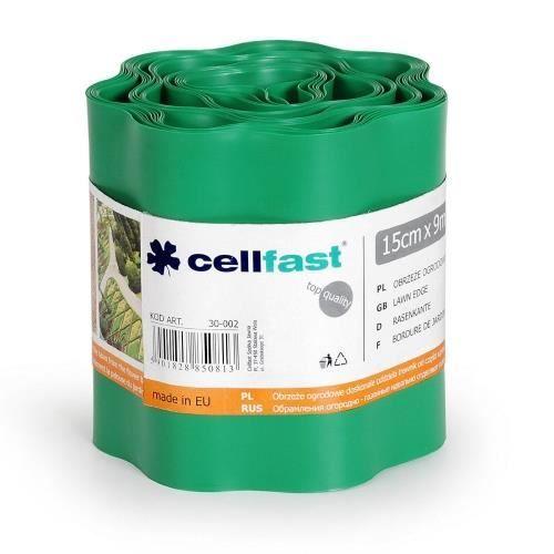 BORDURE Bordure de pelouse 200mm x 9m En PVC flexible Vert