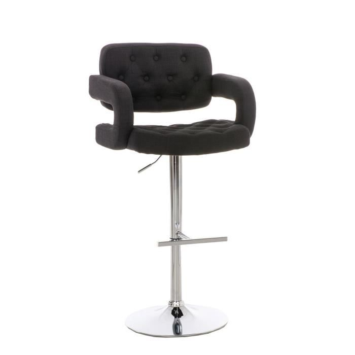 Clp tabouret de bar de design dublin avec rev tement en - Tabouret de bar assise 65 cm ...