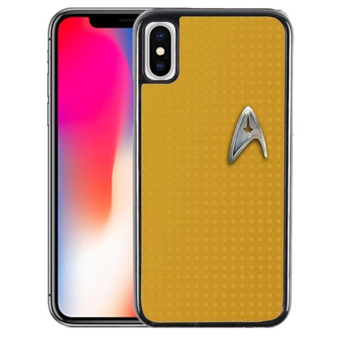 Coque iPhone XR Star Trek Jaune