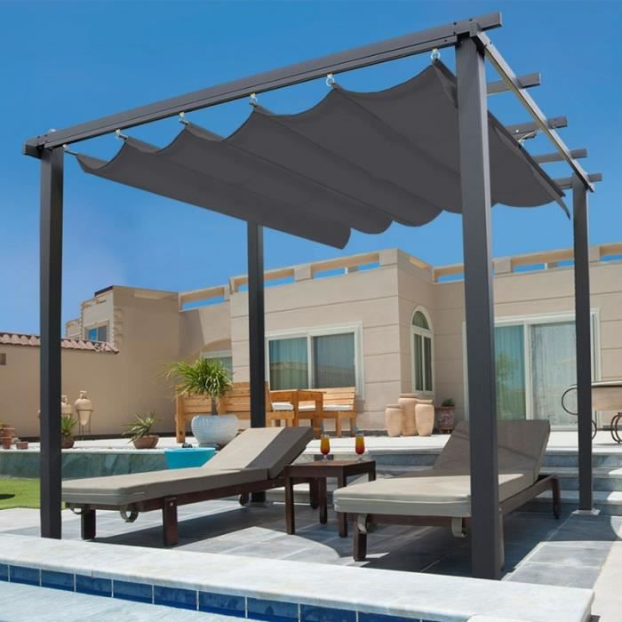 pergola achat vente pas cher cdiscount. Black Bedroom Furniture Sets. Home Design Ideas