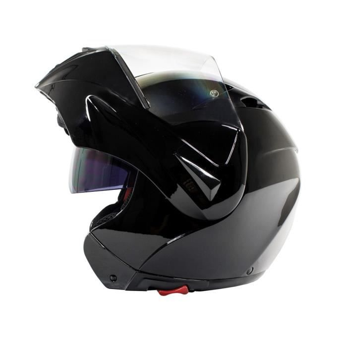 casque modulable noir brillant achat vente casque moto scooter casque modulable noir. Black Bedroom Furniture Sets. Home Design Ideas