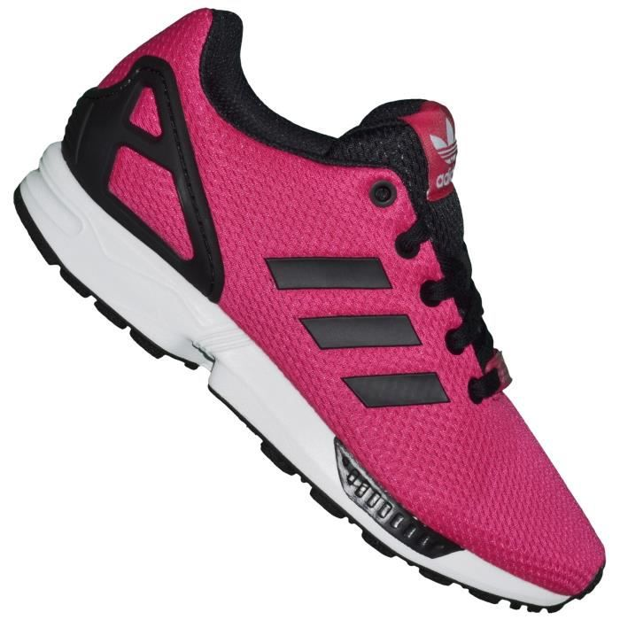 adidas basket running femme zx flux 03 k m19387 rose noir rose achat vente basket. Black Bedroom Furniture Sets. Home Design Ideas