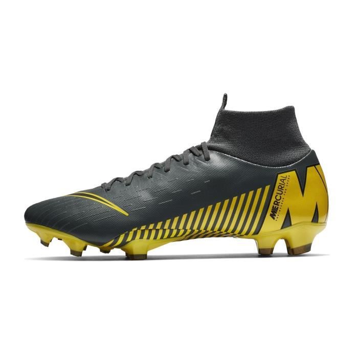 half off 5d896 27d06 Chaussures football Nike Mercurial Superfly VI PRO DF FG Gris-Jaune